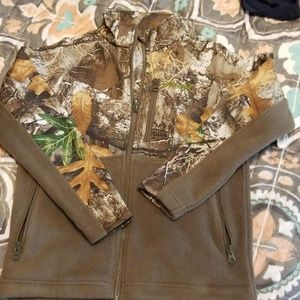 Boys Magellan Camoflage/Fleece jacket